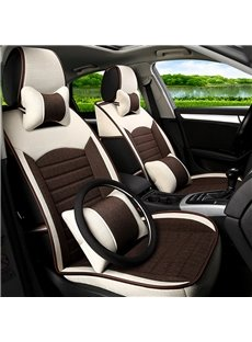Classic Business Contrast Color Design PET Universal Five Car Seat Cover