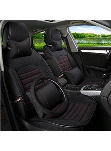Classic Black High-Grade PET Material Universal Five Car Seat Cover
