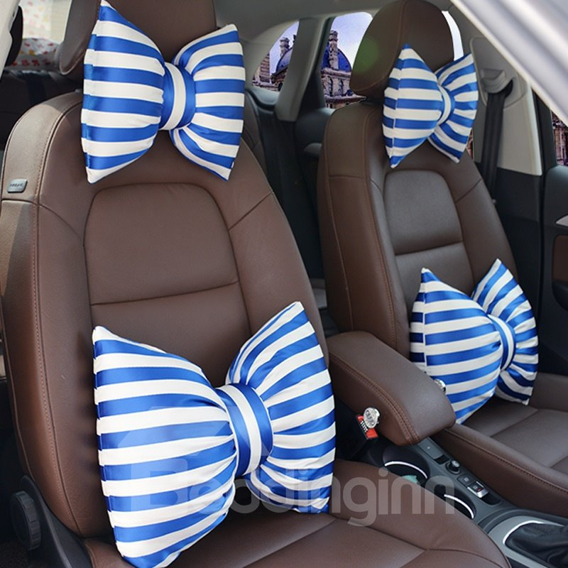 Fashion Blue Bow Type Design 1-Piece Lumbar Pillow