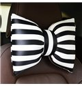 Fashion Color Strip Design Bow Style Single 1-Piece Headrest Pillow