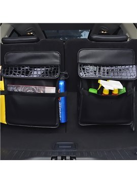 High Grade Leather Material Enough Capacity Single Car Backseat Organizer