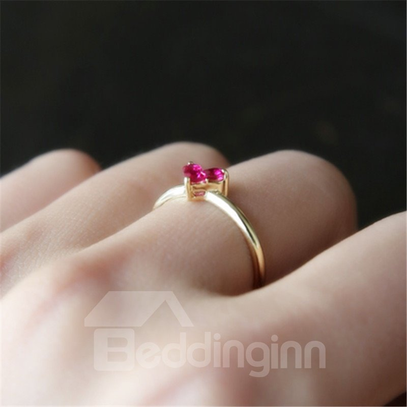 Women's Creative Heart Shaped S925 Sterling Silver Ring