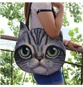 Super Cute Cat Animal Face Pattern 3D Painted Hand Bag