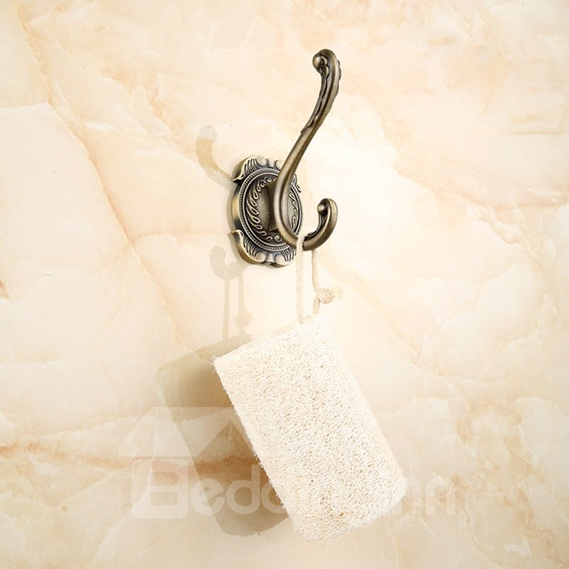European and Elegant Style Retro Zinc Alloy Wall Mounted Bathroom Hook