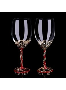 Luxury Red Gorgeous Home Champagne Wine Glasses