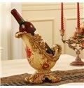 Charming European Style Resin Flower Pattern Home Decorative Wine Rack