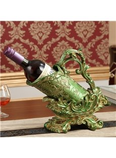 Modern Fashion Resin European Style Flower Pattern Design Wine Rack