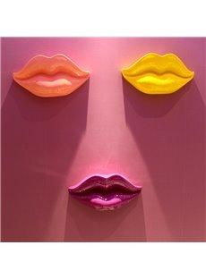 Modern Fashion Sexy Resin Lips Shape Design Home Wall Decors
