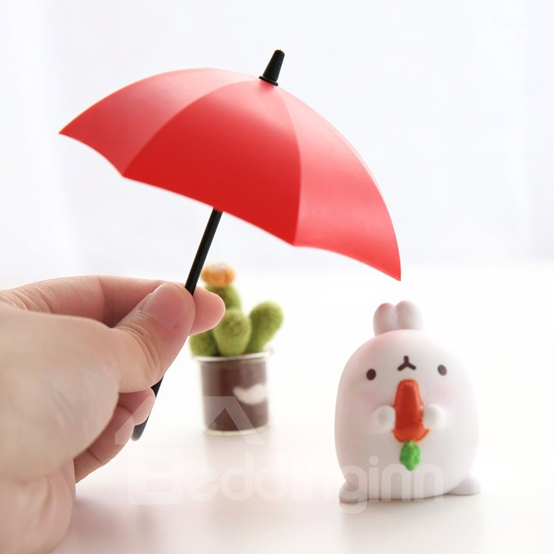 Nail Free Solid Glue 3-Pieces Umbrella Design Bathroom Hooks