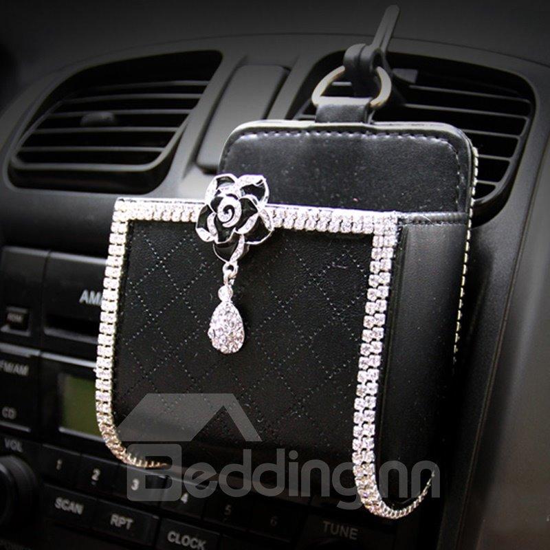 Textured High-Grade Luxury Exquisite Car Outlet Storage Box Organizer