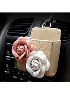 High-Grade Luxury Beautiful Two Flowers Decorative Car Outlet Organizer