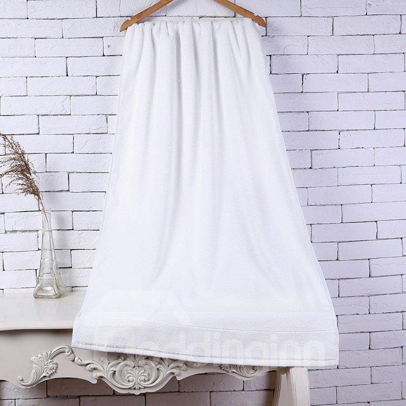 28-Inch-by-55-Inch White Soft Cotton Bath Towel