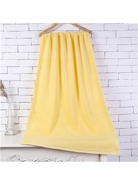 28-Inch-by-55-Inch Yellow Soft Cotton Bath Towel