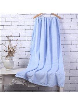 Blue Soft Cotton Machine Washable Extra Large Bath Towel