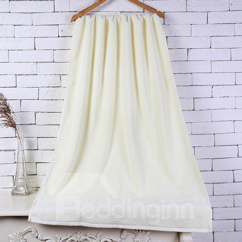 28-Inch-by-55-Inch Beige Soft Cotton Bath Towel