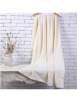 Beige Soft Cotton Machine Washable Extra Large Bath Towel
