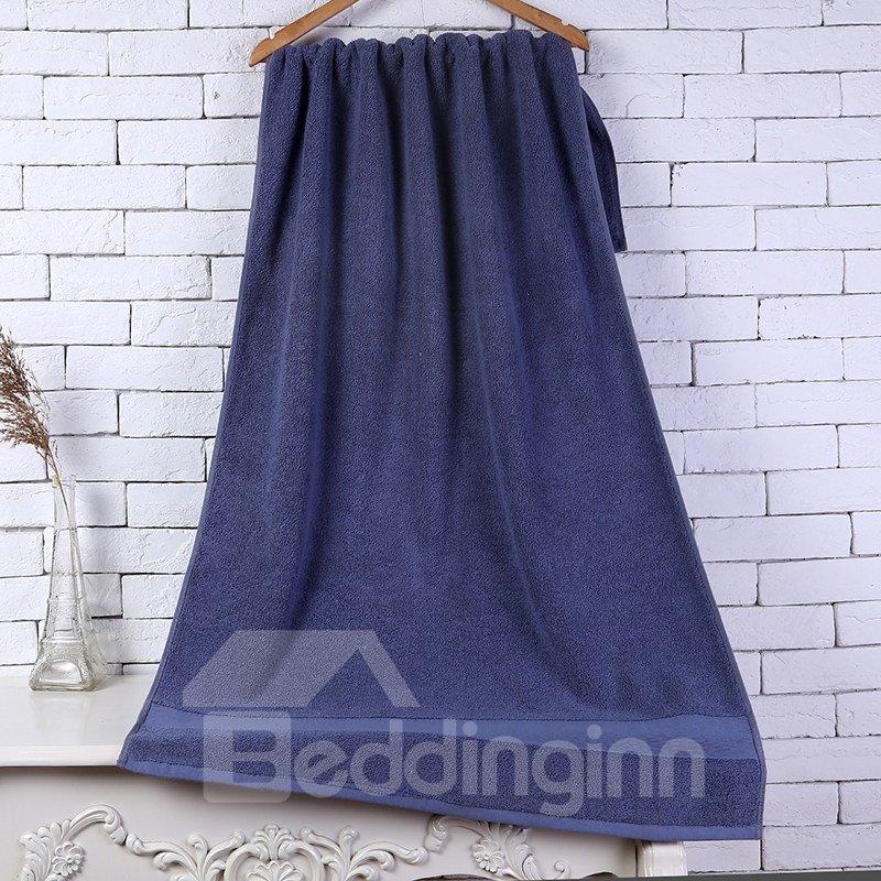 28-Inch-by-55-Inch Blue Soft Cotton Bath Towel