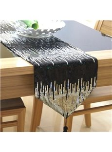 Unique Design European Style Paillette Design Decorative Table Runner