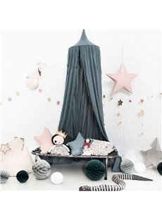 Stylish Signature Cotton Fabric Dark Green Kids Canopy