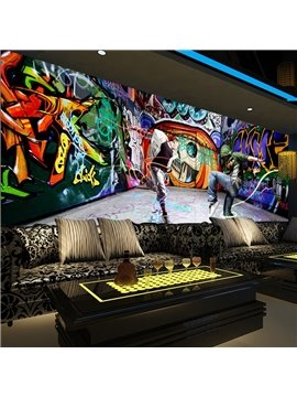 Modern Fashion Design Dancing Boys Pattern Waterproof 3D Wall Murals