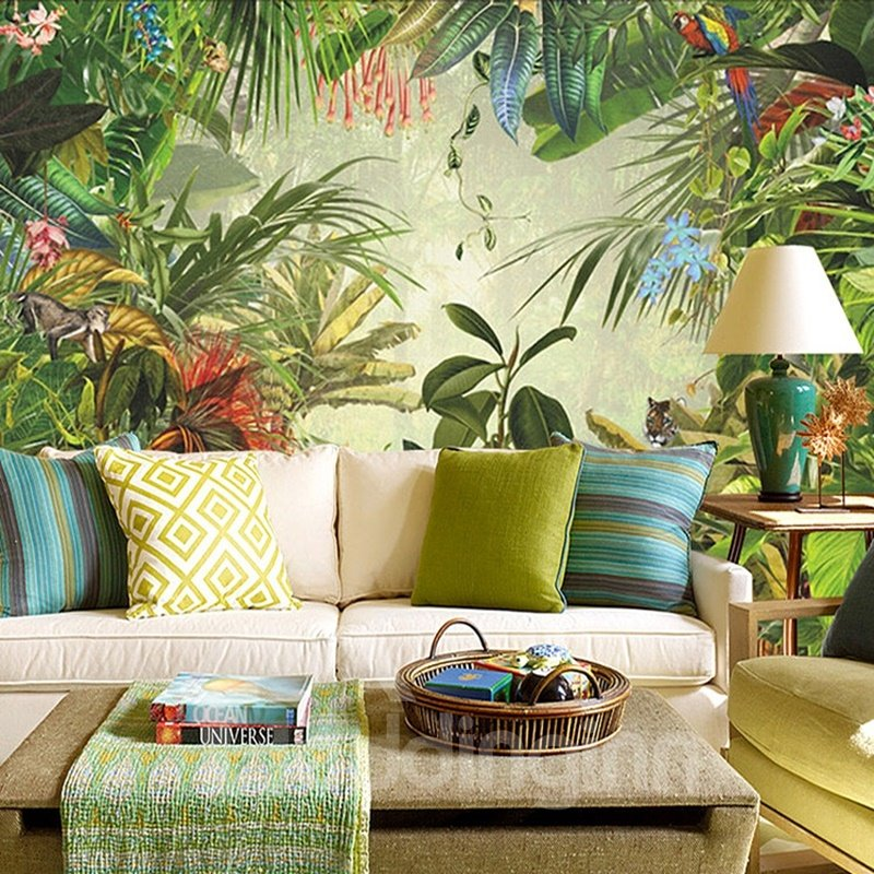 Stunning Selva Forest Scenery Pattern Waterproof Decorative 3D Wall Murals
