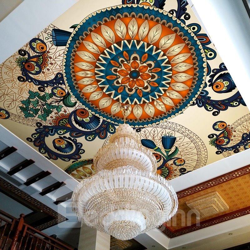 Classic Modern Flowers Pattern Design Waterproof Decorative 3D Wall Murals