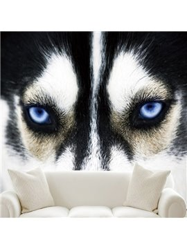 Special Design Fabric Wolf Head Pattern Waterproof Decorative 3D Wall Murals