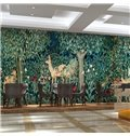 Natural European Style Deer in the Forest Pattern Waterproof 3D Wall Murals