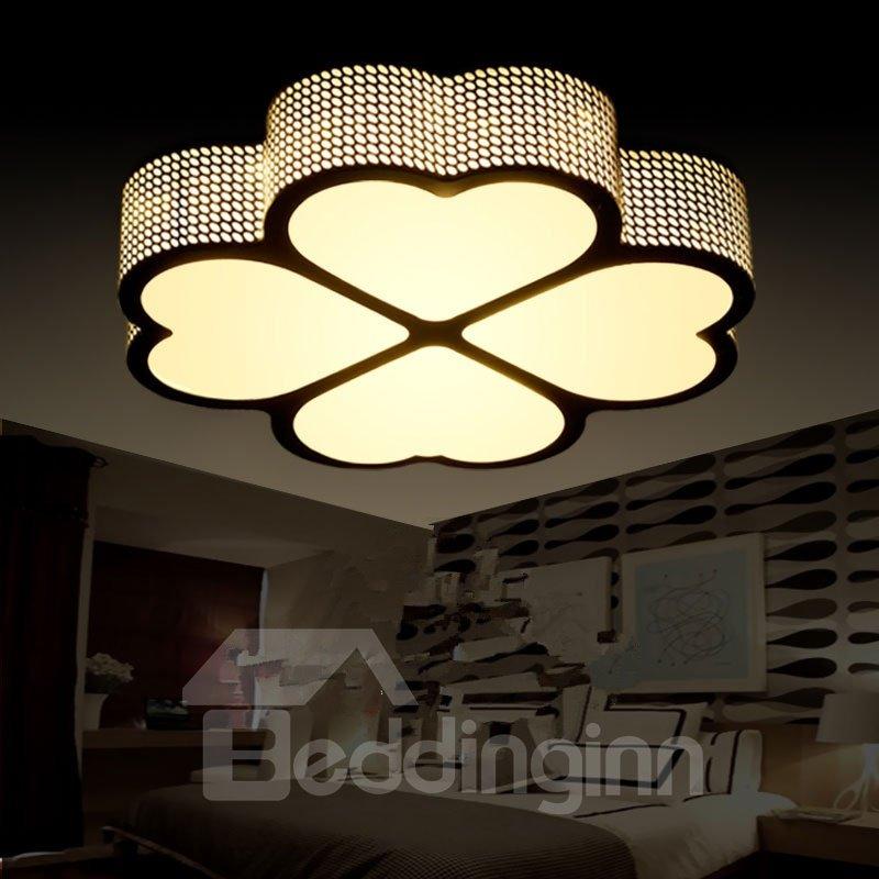 Creative Clover Flower Shape Design European Style Decorative Flush Mount