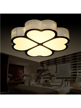 Creative Clover Flower Shape Design European Style Decorative Flush Mount
