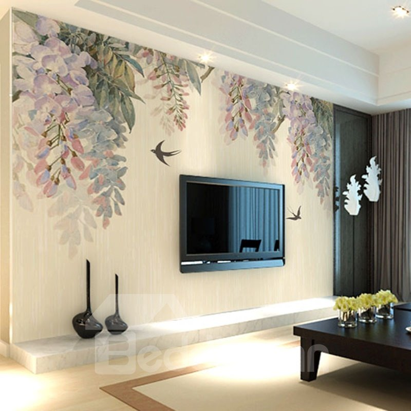 Trees and Birds TV/Sofa Background Waterproof 3D Wall Murals Trees and Birds TV/Sofa Background Waterproof 3D Wall Murals