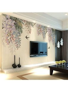 Creative Modern Trees and Birds Pattern Waterproof Decorative 3D Wall Murals