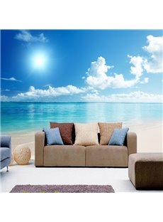 Natural Blue Sky and Seaside Scenery Pattern Home Decorative Waterproof 3D Wall Murals