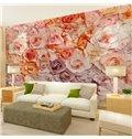 Gorgeous Romantic Roses Pattern Design Waterproof Splicing 3D Wall Murals