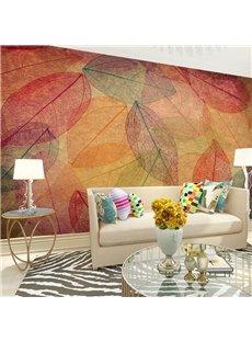 Creative Design Autumn Leaves Pattern Waterproof 3D Wall Murals