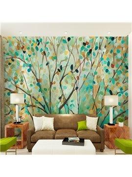 Fresh Colorful Tree Pattern Design Waterproof Decorative 3D Wall Murals