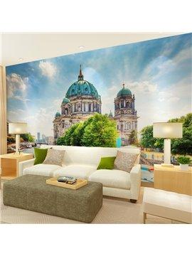 European Style Castle Pattern Scenery Waterproof 3D Wall Murals
