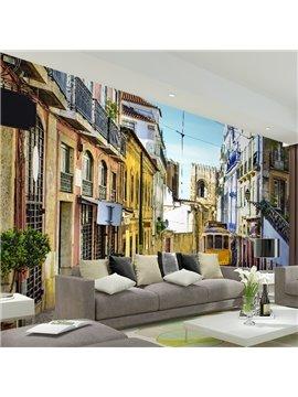 Super Cool European Street Scenery Pattern Waterproof 3D Wall Murals