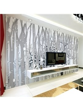 Amazing Simple Style Forest Pattern Waterproof Home Decorative 3D Wall Murals