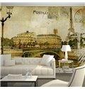 Fancy Eiffel Tower Paris Scenery Pattern Waterproof 3D Wall Murals