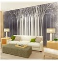 White Tree Pattern Simple Style Home Decorative Waterproof 3D Wall Murals