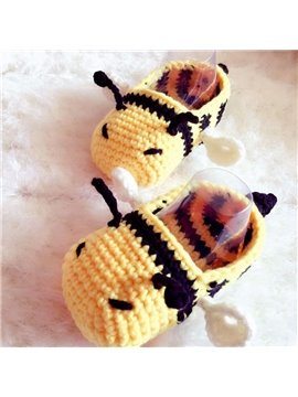 Super Cute Bee Design Knitting Baby Booties