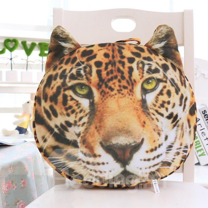 Vivid 3D Leopard Shape Design Throw Pillow