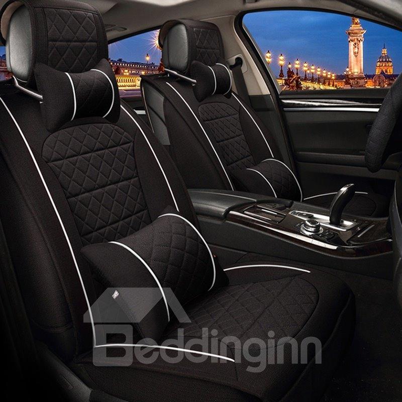 Mysterious Black Unique Style Design Durable PET Material Universal Five Car Seat Cover