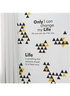 Simple Style Triangle and Inspiration Words Design Wall Stickers
