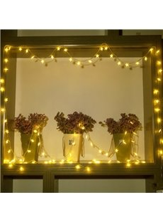 Bright Warm White Stars Shape Design 19.7 Feet Battery LED String Lights