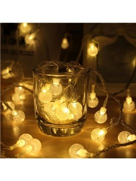 Warm White Crystal Balls Shape 8.2 Feet Battery Indoor and Outdoor Decoration LED String Lights