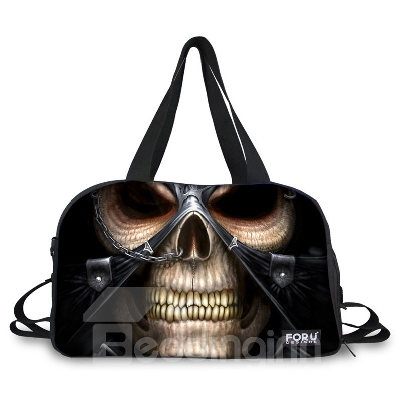 Super Cool Skull Pattern 3D Painted Travel Bag