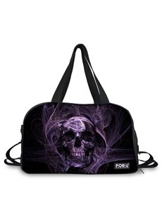 Stylish Purple Skull Pattern 3D Painted Travel Bag