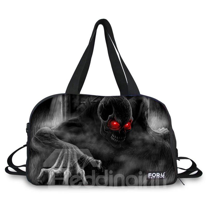 Super Skull Ghost Pattern 3D Painted Travel Bag